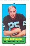 1969 Topps - Four-in-One Singles #NNO Fred Biletnikoff Front