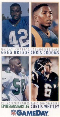 1992 GameDay #204 Greg Briggs / Chris Crooms / Ephesians Bartley / Curtis Whitley Front