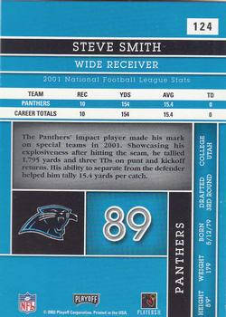 2002 Playoff Absolute Memorabilia #124 Steve Smith Back