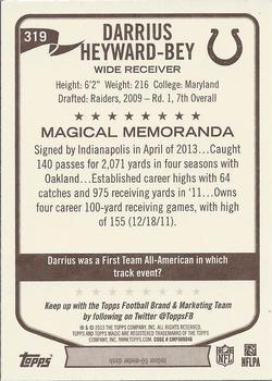 2013 Topps Magic #319 Darrius Heyward-Bey Back