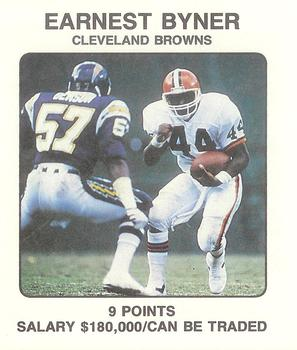 1989 Franchise Game #57 Earnest Byner Front