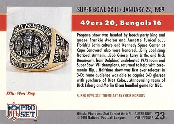 1990 Pro Set - Theme Art #23 Super Bowl XXIII Back