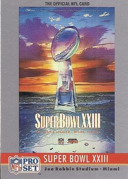 1990 Pro Set - Theme Art #23 Super Bowl XXIII Front