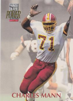 1992 Pro Set Power #71 Charles Mann Front