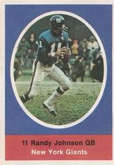 1972 Sunoco Stamps #417 Randy Johnson Front