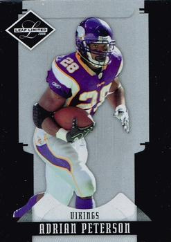 2008 Leaf Limited #57 Adrian Peterson Front