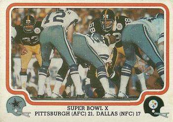 1979 Fleer Team Action #66 Super Bowl X Front