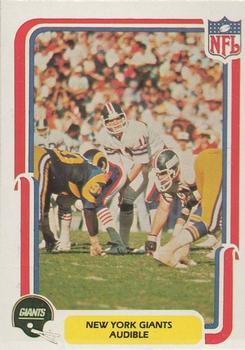 1980 Fleer Team Action #35 Audible (Offense) Front