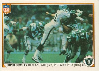 1983 Fleer Team Action #71 Super Bowl XV Front