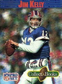 1990 Pro Set Collect-A-Books #1 Jim Kelly Front