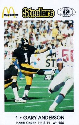 1984 Pittsburgh Steelers Police #NNO Gary Anderson Front