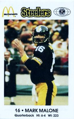 1984 Pittsburgh Steelers Police #NNO Mark Malone Front
