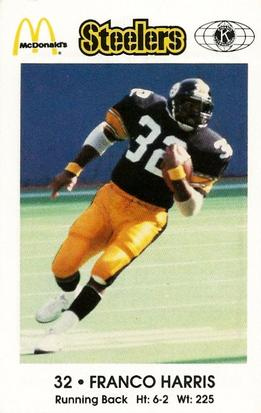 1984 Pittsburgh Steelers Police #NNO Franco Harris Front