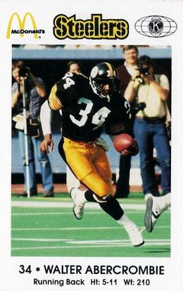 1984 Pittsburgh Steelers Police #NNO Walter Abercrombie Front