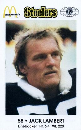 1984 Pittsburgh Steelers Police #NNO Jack Lambert Front