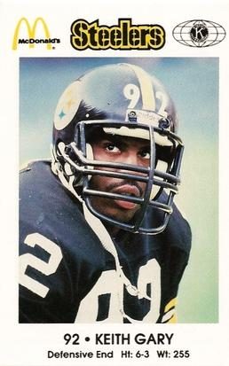1984 Pittsburgh Steelers Police #NNO Keith Gary Front
