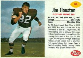 1962 Post Cereal #64 Jim Houston Front