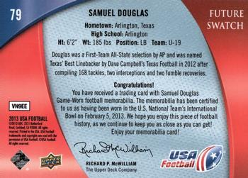 2013 Upper Deck USA #79 Samuel Douglas Back