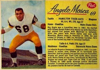 1963 Post Cereal CFL #69 Angelo Mosca Front