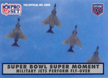 1990-91 Pro Set Super Bowl XXV Silver Anniversary #137 First Fly-Over Front