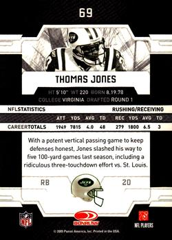 2009 Donruss Elite #69 Thomas Jones Back