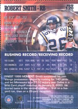 2000 Finest - Gold Refractors #120 Robert Smith Back