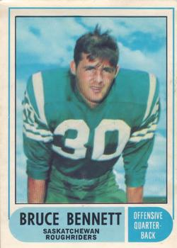 1968 O-Pee-Chee CFL #91 Bruce Bennett Front