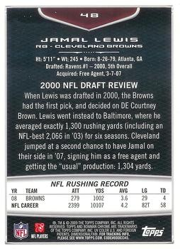 2009 Bowman Chrome #48 Jamal Lewis Back