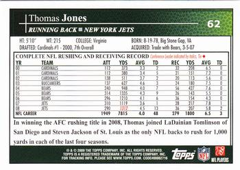 2009 Topps Kickoff #62 Thomas Jones Back