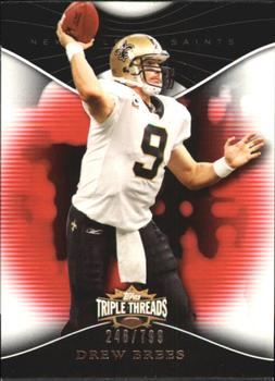 2009 Topps Triple Threads #1 Drew Brees Front