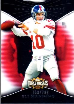 2009 Topps Triple Threads #17 Eli Manning Front