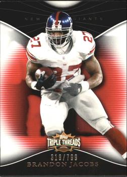 2009 Topps Triple Threads #39 Brandon Jacobs Front