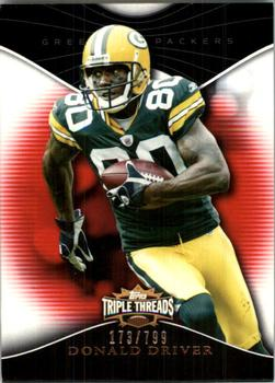 2009 Topps Triple Threads #74 Donald Driver Front