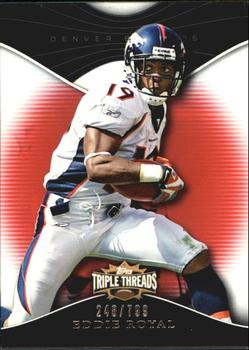 2009 Topps Triple Threads #76 Eddie Royal Front