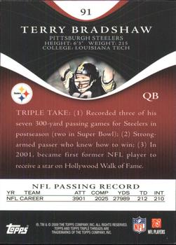 2009 Topps Triple Threads #91 Terry Bradshaw Back