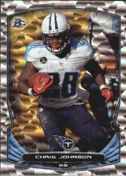 2014 Bowman - Veterans Rainbow Silver Ice #71 Chris Johnson Front