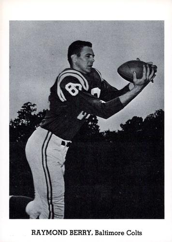 1960 Jay Publishing Baltimore Colts #NNO Raymond Berry Front
