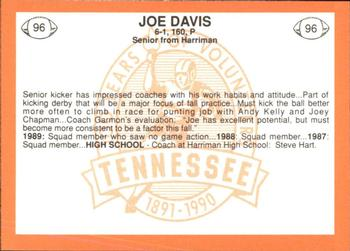 1990 Tennessee Centennial #96 Joe Davis Back