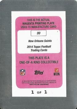 2014 Topps - Printing Plates Magenta #99 New Orleans Saints Back
