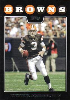 2008 Topps Cleveland Browns #2 Derek Anderson Front