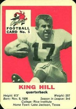 1960 Mayrose St. Louis Cardinals #5 King Hill Front