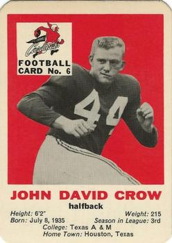1960 Mayrose St. Louis Cardinals #6 John David Crow Front