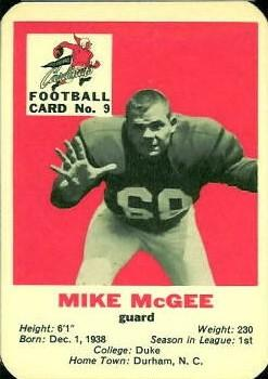 1960 Mayrose St. Louis Cardinals #9 Mike McGee Front