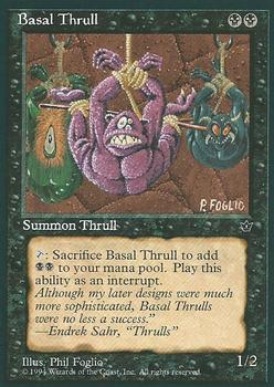 1994 Magic the Gathering Fallen Empires #NNO Basal Thrull Front