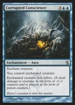 2011 Magic the Gathering Mirrodin Besieged #22 Corrupted Conscience Front