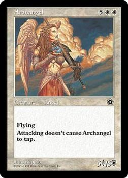 1998 Magic the Gathering Portal Second Age #NNO Archangel Front