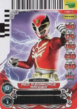 2012 Saban's Power Rangers - Rise of Heroes #1 Red Megaforce Ranger Front