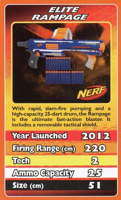 2012 Top Trumps Nerf #NNO Elite Rampage Front