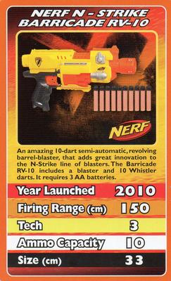 2012 Top Trumps Nerf #NNO Nerf N-Strike Barricade RV-10 Front