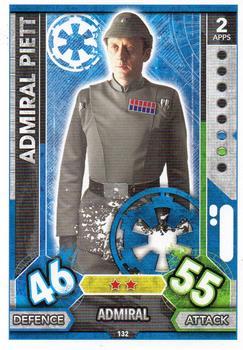 Force Awakens Set 1 #43 Admiral Piett Star Wars Force Attax